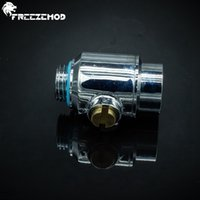 Wholesale Male Valve - Wholesale- FREEZEMOD Silvery G1 4'' thread brass mini valve female + male part for waterway control computer water cooling system. FM-NSWS