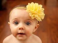 flores de crochet para faixas de bebê venda por atacado-Bebê Acessório de Cabelo Menina Headwear Cabeça Flor Acessórios Para o Cabelo flor Chiffon com macio Elastic crochê headbands faixa de cabelo stretchy 12 Cores