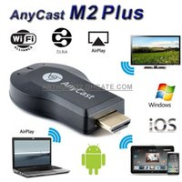 Wholesale wifi ezcast - New Anycast M2 Plus DLNA Airplay WiFi Display Miracast Dongle HDMI Multidisplay 1080P Receiver AirMirror Mini Android TV Stick Better ezCast