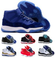 Wholesale Gold Velvet Sport - New Retro 11 Basketball Shoes Women Men Retros Space Jam 11s XI 72 Bred Blue Velvet Heiress Femme Athletics Original Sport Sneaker