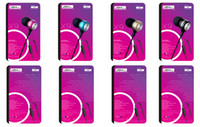 Wholesale Pink Mp3 Mp4 Mp5 - 1PCS metal bass Earphone for MP3 MP4 MP5 cell phone PC Earbuds Headphone bass metal earphone JBM X9 free shipping