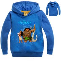 Wholesale Tshirt Jacket - Tshirt kids MOANA clothes tee shirt enfant garcon Long Sleeve T-shirts Sweatshirt Hoodies Boys Girls