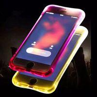Wholesale Led Tube Casing - Fashion Light Phone Case for iPhone 7 Plus Light Tube Series Calling Flashing Led light Case Cover selfie phone protection