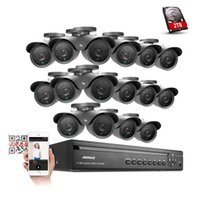 ANKE 16CH HDMI Video 960H DVR ao ar livre 900TVL CCTV Night Security IR Camera System 2TB