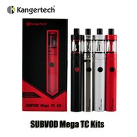 Wholesale mega box - 100% Original Kangertech SUBVOD Mega TC Kits 2300mAh Battery 4.0ml Kanger TOPTANK Mini Topfill Atomizer Gift Box