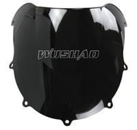 Wholesale Suzuki Gsxr 1997 - Motorcycle Double Bubble Windshield WindScreen For 1996-1999 Suzuki GSXR600 GSXR750 GSXR 600 750 1997 1998 96 97 98 99 Black