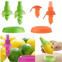 ingrosso set di strumenti arancioni-Trasporto libero 1 set di frutta agrumi lemon lime lime orange spray spruzzatore di succo maker spremiagrumi FZ1189