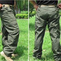 Wholesale Army Cargo Camo - HOT SALE New Mens Fashion Casual Pants Military Army Cargo Camo Combat Work Pants Trousers Army green