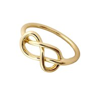 Wholesale-Min 1pc Gold / Silber / Rotgold Herz-Knoten Ring Everyday Schmuck Infinity-Ring-Finger-Ring JZ046