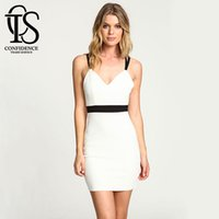 Wholesale Plus Size Womens Summer Wear - Hot Sale White Vestidos Backless Womens Dresses Women Summer Dress Strap Sexy&Club Bodycon Bandage Dress Women Plus Size robe