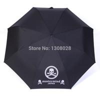 anime guarda-chuva venda por atacado-Atacado-japonês One Piece crânio Anime Mastermind Manual de três homens dobráveis mulheres personalizado chuva guarda-chuvas para venda