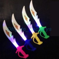 Led Toys Electronic Light Knife Simulation Brinquedos para crianças Sword Colorful Swords Swords Gifts For Kids JF-705