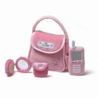 Wholesale High Quality Creative Cloth Toys Purse Phone Playsets for Baby Girls