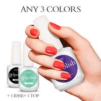 Wholesale Smart Nail Polish - Choose 3 Colors+1 Base Gel+ 1 Top Coat) Smart Gelpolish Long Lasting Soak off LED UV For Salon UV Nail Gel Lacquer Varnish