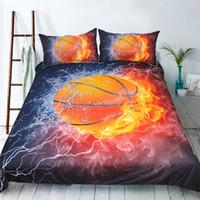Wholesale White Full Bedroom Set - Fashion Design Basketball Reactive Printing Bedding Set Twin Full Queen King Size Bedroom Decoration Duvet Cover Pillow Sham 3PCS Animal