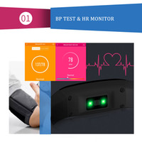Multi-funzionale resistente all'acqua BT4.0 Smart Touch Display OLED Blood Pressure Braccialetto frequenza cardiaca Tracker Monitor Pedometro Sport Fitness