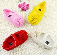 Wholesale Cheap Toddler Flower Girl Shoes - Multicolor princess shoes,Plain flower toddler shoes!charm baby shoes,Autumn girls walker shoes,cheap children shoes,soft.12pairs 24pcs.C