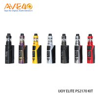 Wholesale elite fit - iJoy Elite PS2170 Kit 100w Out Put fit 21700 20700 18650 Battery with 3.2ml 2.0ml Captain Mini Subohm Tank use CA-M1 Coil CA-M2 Core 100% Or