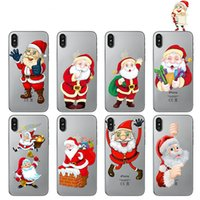 Wholesale Interesting Iphone Cases - Phone Cases for Apple Iphone 7 6S 6 8 Plus SE X Interesting Santa Claus Soft Silicon TPU Case Cover for samsung S8 S8PLUS