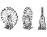 Wholesale Eiffel Towe - 10pcs lot ZOYO genuine 3D Puzzle   DIY nano metal   miniature three-dimensional sculptures   Eiffel Towe Eiffel Tower, the ferris wheel