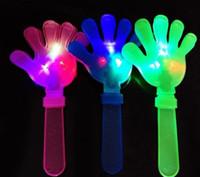 Wholesale Clap Lights - 400pcs lot 28cm DHL LED Flashing Hand Toy Led Light Palm Slap Night Party Glowing Clap Props Luminous Plam Noise Maker Concert Bar Supplies