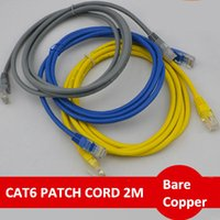 Wholesale utp plug - 4 Colors RJ45 Patch Cables UTP Patch Cords Cat6 Patch Leads Category 6 Stranded Bare Copper RJ45