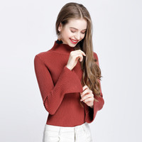 Wholesale Korean Knit Jacket - Sweater Woman Winter New Pattern Knitting Korean Version High Lead Horn Sleeve Thickening Self-cultivation Keep Warm Jacket Will Code Sweate