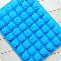 Wholesale Silicone Alphabet Letter - Alphabet ice mold Silicone 26 English letters DIY handmade chocolate scone mold ice trays ice cube letter mould cool in hot summer