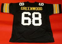 Compra Lc Custom-Cheap retro # 68 LC GREENWOOD CUSTOM JERSEY nero Mens cuciture Throwback Taglia S-5XL maglie da calcio
