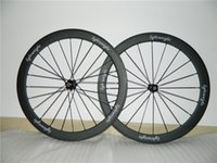 Wholesale Cycling Clincher - 50mm Light Weight Carbon Wheels Matte finish cheap price carbon fiber road cycle wheel set painting decals free