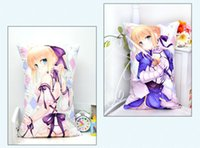 Wholesale Saber Case - Wholesale-Anime Pillow Case Fate Stay night Saber Altria Pendragon pillows free shipping 35cm*55cm