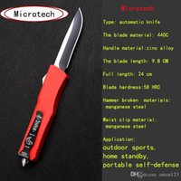 Wholesale Single Cut - Brand micro micro - cutting tools automatic single - knife 440C 58HRC aluminum alloy high quality portable tactical outdoor camping knife