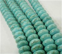 Wholesale Turkey Turquoise Beads Wholesale - Blue 5x8mm Turkey Turquoise Abacus Loose Beads Gem 15""