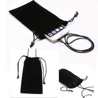 Wholesale Purple Tablet Bag - Universal Phone Bag Case Velvet Pouch Fabric Cases For iPhone X 8 7 6S Samsung S8 Plus J3 J5 J7 for tablet pc 6 size
