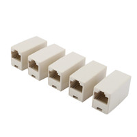 Wholesale Ethernet Connector Adapter - RJ45 CAT5 Coupler Plug Network LAN Cable Extender Joiner Connector Adapter