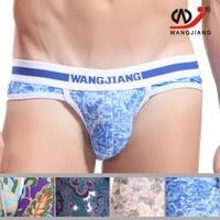 Wholesale Hom Briefs - Wholesale-Man Brief Underwear Print Sexy Close-fitting Bottoms Underpants Men Tights Briefs Male Panties Hom Underwear joe snyder 4005-SJ