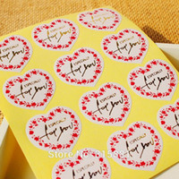 Wholesale Gold Adhesive Paper - Heart shaped with gold Especially for you sealing sticker , adhesive sticker 240PCS LOT