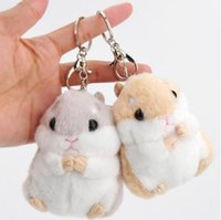Baby Kids Kawaii Cute Soft Plush Cartoon Animal Branco / Khaki Pequeno Hamster Toy Doll Chaveiro Stuffed Mouse Toy