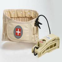 ingrosso schienale inferiore supporto posteriore-Cintura di trazione ad aria spinale Physio Decompressione Cinghia per la schiena Indietro Brace Dolore lombare Supporto per la schiena lombare Brace Back Massager JJD2053