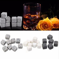 Wholesale Ice Cubes Glacier - Whisky Stones Whisky Scotch Soapstone Cold Glacier Stone Ice Cubes Rocks Sipping Stones With Package 9pcs Set OOA3618