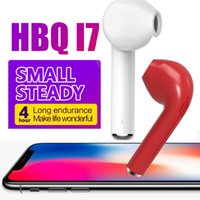 Original HBQ I7 fones de ouvido Mini Bluetooth Earbud Single Wireless Invisible Headphones Headset com fone de ouvido bluetooth para iPhone Android