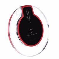ingrosso caricatore senza fili di iphone per il cellulare-Caricabatterie wireless universale per caricabatteria da auto ricaricabile Qi Caricatore wireless per iPhone X 8 Plus Samsung S8