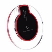 evrensel yerleştirme istasyonları toptan satış-Evrensel Qi Kablosuz Şarj Şarj Pad Cep Telefonu Adaptörü Dock İstasyonu iPhone için Kablosuz Şarj X 8 Artı Samsung S8