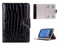 Wholesale Book Galaxy Tab - Universal Adjustable Crocodile Flip PU Leather Stand Case For 7 inch Tablet PC E-Book Q88 Samsung Galaxy Tab ASUS ACER Kindle Fire Huawei