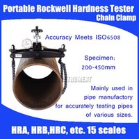 Wholesale Portable Rockwell Tester - Wholesale-Free shipping PHR-16 Chain Clamp Portable Rockwell Hardness Tester Specimen:200-450mm For testing pipes HRA, HRB, HRC, etc.