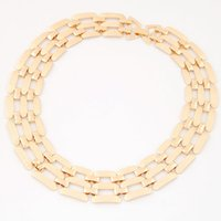Wholesale Chunky Silver Link Chain Necklace - Costume Jewelry New Luxury Statement Chunky Necklace Women Gold Plated Silver Plated Maxi Necklaces Woman Chain Collares