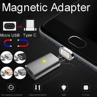 Wholesale Magnetic Charging Adapter - Type-C Metal Micro USB Port Type C Charging Cable Quick Transfer Magnetic Adapter