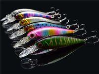 ingrosso trota di plastica-Fishing Lure Bionic Crank Hard Baits Plastica Bass Trout Minnow Attrezzatura da pesca con sfere metalliche / Treble Hook 10.5cm 9.5g