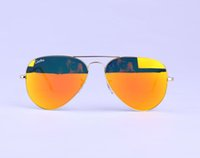 Wholesale Colourful Glasses Frames - Hot Selling Unisex Mirror Lens Sunglasses Men's Women's Mirrored sun glasses with Original case 12 colors available various colourful Lens