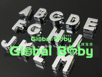 Wholesale Charms For Dog Collars - (260 Pieces lot) 10mm Polish Slide A-Z Letter Charm for DIY Pet Name! DIY Dog Cat Pet Collar Slide letters alphabet